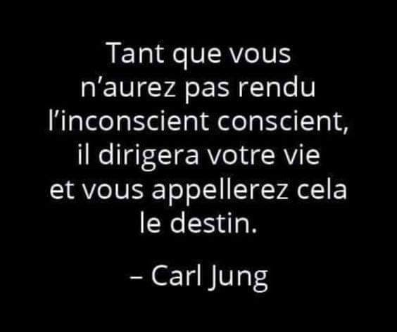 tant que vous n'aurez pas rendu l'inconscient conscient, il dirigera votre vie et vous appellerez cela le destin carl jung psychologie